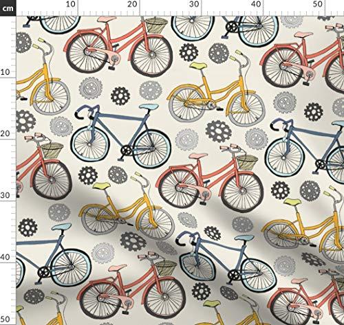 Zahnräder, Radzähne, Rennen, Fahrrad Stoffe - Individuell Bedruckt von Spoonflower - Design von Tangerine-Tane Gedruckt auf Baumwollstoff Klassik