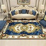 WANY Estilo Europeo Salón Alfombra,Vintage Floral Oriental Alfombra,Moderno Mal Grueso Suave Felpa Alfombra,140 X 200 Cm-H 200 * 300cm