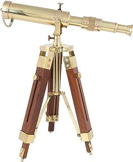 clásico Telescopio de latón sobre trípode Stand/Antique Telescopio de computadora para decoración del hogar & Table accesorio Nautical Spyglass telescopio para azul marino y aventuras al aire última intervensión..............