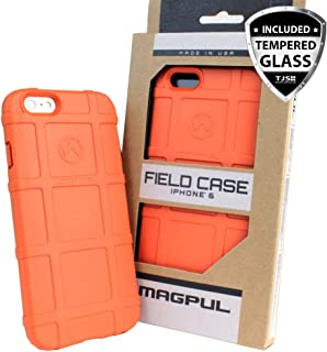 Case for iPhone 6/iPhone 6s, with TJS [Tempered Glass Screen Protector] Magpul [Field] MAG484 Polymer Cover Retail Packaging Compatible Apple iPhone 6/iPhone 6s 4.7