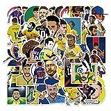 XXCKA 50 Pegatinas de Graffiti de Neymar del Delantero Estrella del fútbol brasileño Decoradas con Pegatinas Impermeables