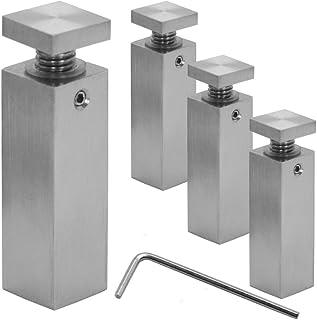 4x6cm Distanziatore distanziale Muro Spacer acciaio inox fissaggio per vetro acrilico Ø1,8cm indoor outdoor quadrato