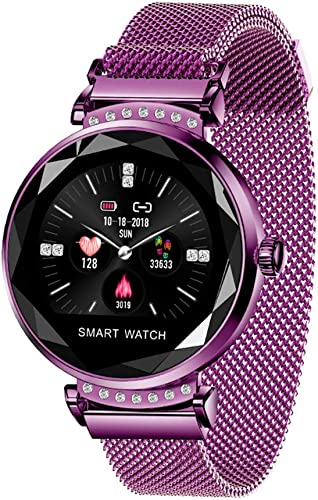 JAY-LONG Bracelet De Sport bleutooth, Montre Intelligente, Surveillance De La FréQuence voiturediaque, éTanche IP67, Sangle MagnéTique, Message Push, Alerte D'Appel,violet