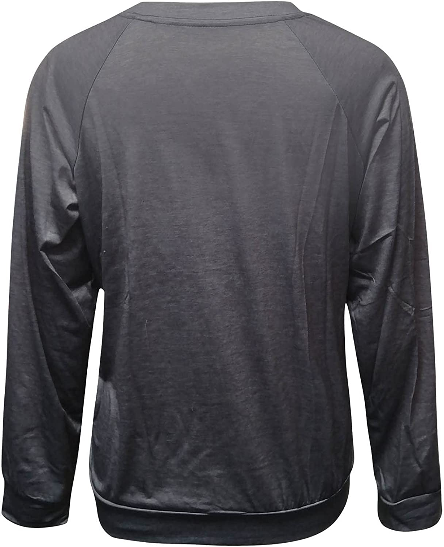 Long Sleeve T Shirts For Women Soft Blouses Button-Down Shirts Casual Tunics