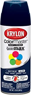Krylon K05190707 ColorMaster Paint + Primer, Gloss, Navy Blue, 12 oz.