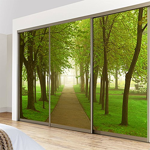 Fensterfolienaufkleber für Schiebetür, Wandmalerei, Glasmalerei, Fensterfolie, 80 cm breit x 60 cm hoch