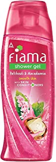 Fiama Shower Gel Patchouli & Macadamia, Body Wash with Skin Conditioners for Soft Glowing Skin, 250 ml bottle