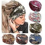 6 diademas bohemias para mujeres, trenzadas, elásticas, florales, torcidas, turbantes para el pelo para hacer yoga