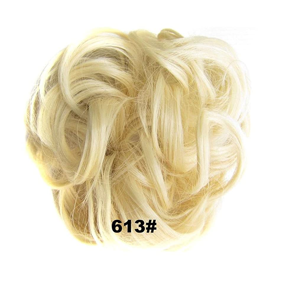 Synthetic Flexible Hair Buns Curly Scrunchy Chignon Elastic Messy Wavy Scrunchies Wrap Ponytail Extensions For Women #613