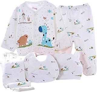 comprar comparacion Value Pack Recién Nacido Bebé, LANSKIRT 11PCS Bebé Niña Niño Dibujos Animados Manga Larga Tops + Sombrero + Dos Pantalones...