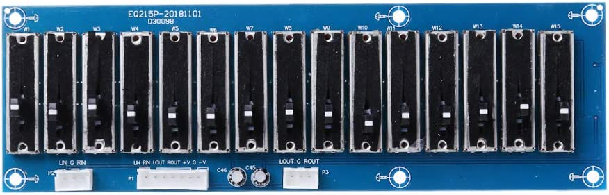 FangWWW EQ Equalizer Hi-Fi-Dual-Channel-justierbares Ton-Boards Preamp-Frontplatte f/ür Verst/ärker