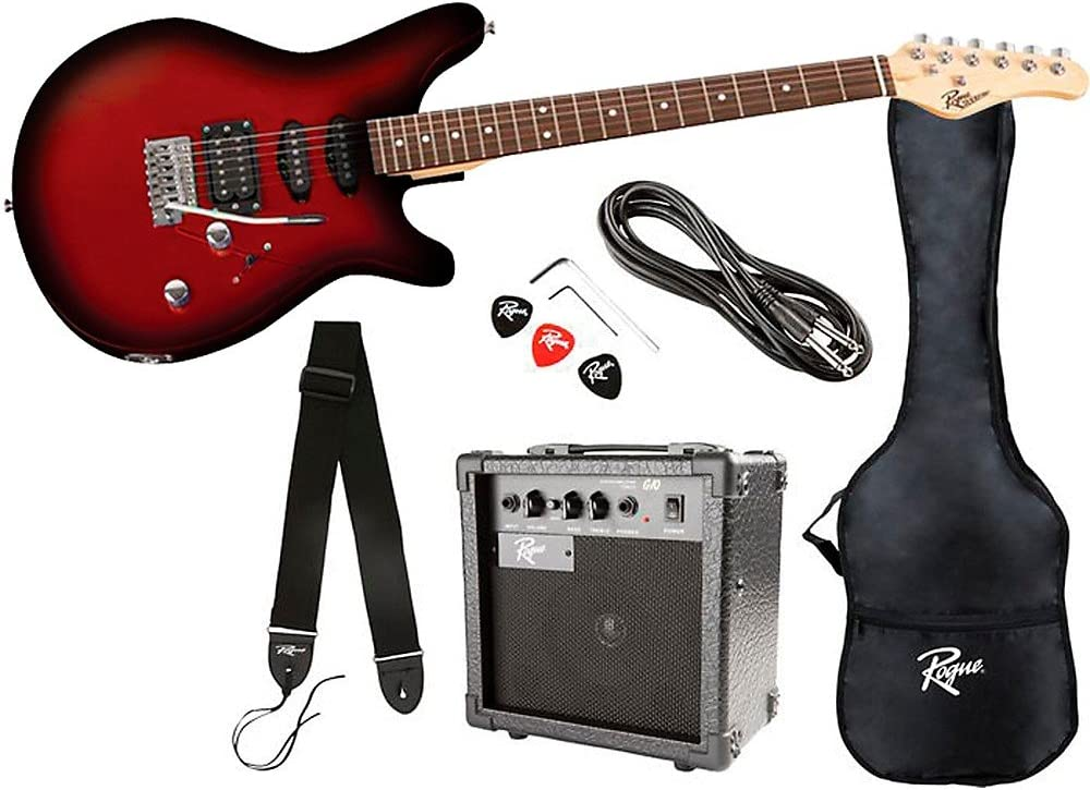 Rogue Selling Rocketeer Electric Guitar Pack Award-winning store Red Burst
