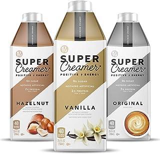 Kitu Super Creamer, SugarFree Coffee Creamer (0g Sugar, 2g Protein, 40 Calories) [Variety Pack] 25.4 Fl Oz, 3 Pack | Keto ...