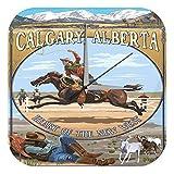 Reloj Pared Agencia Viajes Vacaciones Vaquero de Calgary