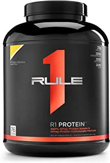 Sponsored Ad - R1 Protein Whey Isolate/Hydrolysate, Rule 1 Proteins (76 Servings, Frozen Banana)