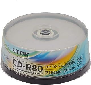 TDK CD-R Velocidad 52x Tarrina 25 ud. 700 MB 80 Minutos (