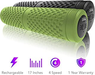 American Lifetime Vibrating Foam Roller - 17 Inch 4-Speed Rechargeable Electric High-Intensity Vibration,  Deep Tissue Massager for Recovery,  Pliability Training,  Physical Therapy