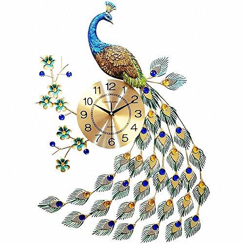 MagicPro Reloj de pared pavo real