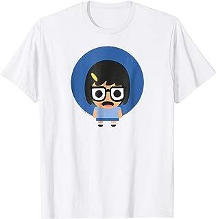 Bob's Burgers Kawaii Tina Blue Circle T Shirt