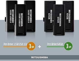 Kit Pen Drive 32GB(usb 3.0) 6pcs + 64GB 3pcs Mitsushiba
