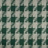 Wollstoff Karo grün grau Winterstoff - Preis gilt für 0,5