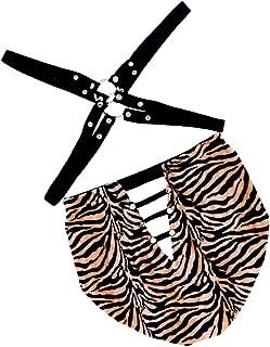 D DOLITY Men Leopard Harness Underwear Thongs Bodysuit Teddy Clubwear Costume