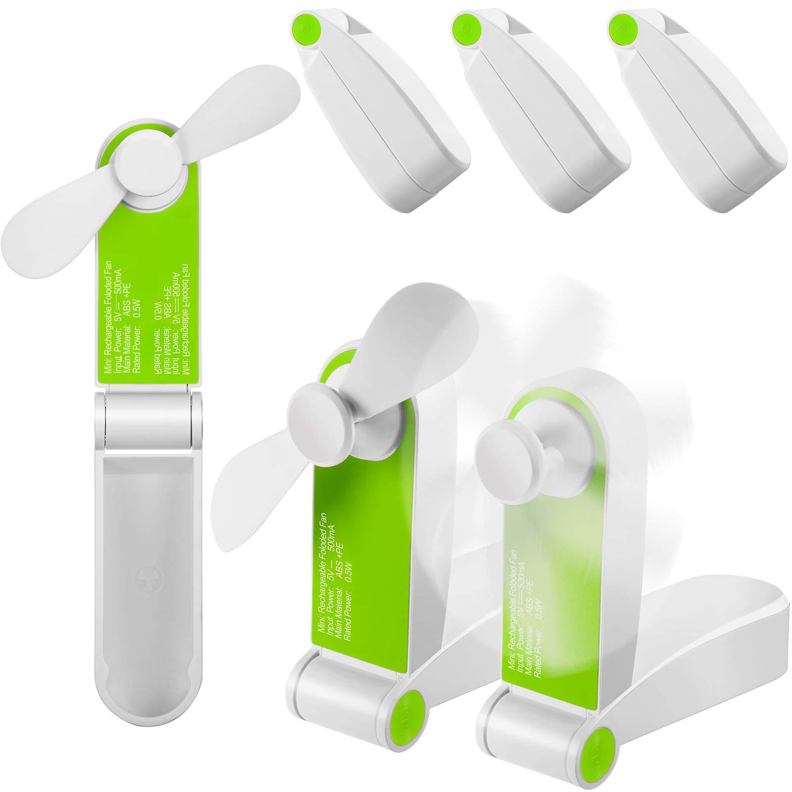 Details about  /Foldable Mini Handheld Fan Personal USB Rechargeable Summer Portable Fans T7S1