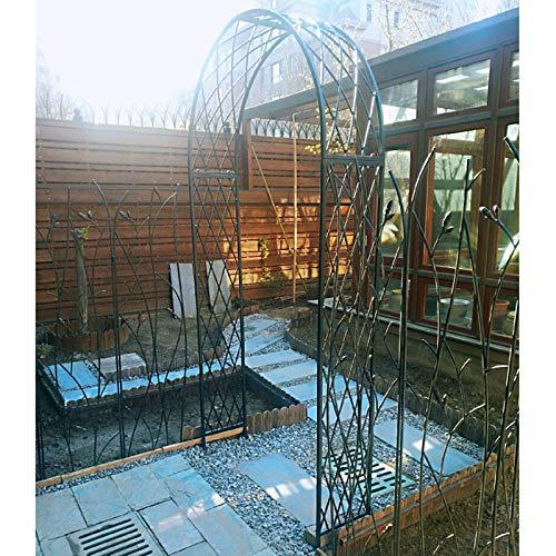 Arco De Metal para Jardin, Soporte para Rosas, Decoración de Ceremonia de Fiesta de Arco de Boda, W180×40×H250cm, W260×40×H250cm