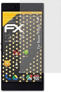 atFoliX Skärmskydd är kompatibel med Razer Phone Skyddsfilm, antireflekterande och stötdämpande FX Film (3X)