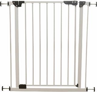 アイリスプラザ ベビーゲート ベビーガード ベビーフェンス 柵 自動で閉まる 扉 突っ張りタイプ 拡張フレーム付き 設置幅70-91cm ホワイト