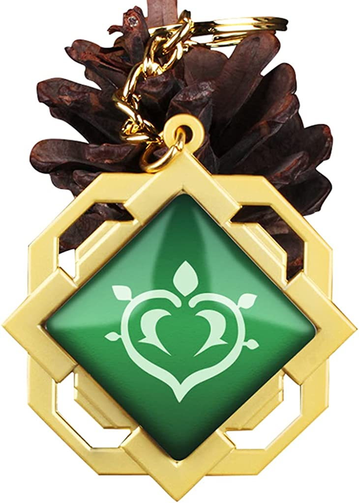 Cosfun Liyue Trinket Eye of God Badge Keychain Phone Charm Gifts C00173
