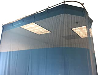 DevLon NorthWest Medical Curtains Privacy Hospital Cubicle Curtain With Flexible Track 10 Foot W x 9.3 Foot H Light Blue
