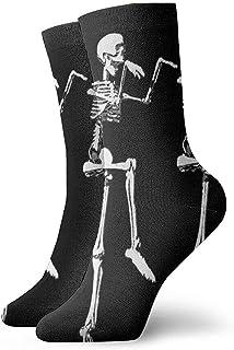 Dydan Tne, Niños Niñas Locos Divertidos Divertidos Calcetines de Calavera esquelética Calcetines Lindos de Vestir de Novedad