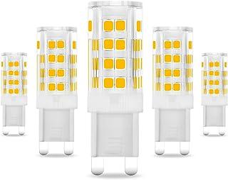Eslas G9 3.5 W LED Bombillas(330 lm,35 W equivalente a halógeno),2700 K blanco cálido,51 LED SMD,AC 220 - 240 V,90% ahorro de energía [Clase energética ...