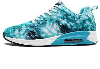 Zapatillas de Deporte cómodas y con Cordones para Mujer Calzado Deportivo Impermeable Resistente al Desgaste Correr Camina...