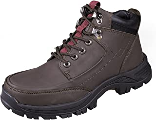 Modern Fantasy Mens Fur Leather Logger Outdoor Sport Shoes Climbing Boot