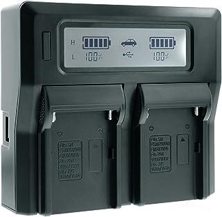 Mondpalast @ LCD Digital Cargador Doble de Batería para SONY FM500H NP-FM500H F550 F750 F960 FM50 FM70 FM90 PANASONIC VBD1 VBD2 JVC V607U V617U