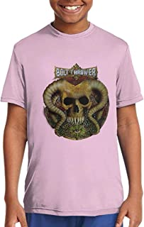 DoohcwBDJ Boys and Girl's Bolt Thrower Spearhead Summer Casual Short Sleeve T Shirt Youth Gift Black