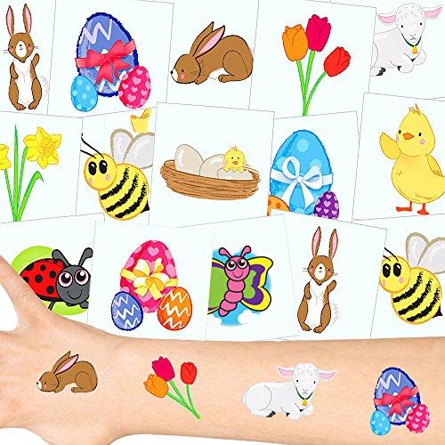 German Trendseller Oster Tattoos Set ┃ Neu ┃ Oster Party ┃ Kindergeburtstag ┃ Mitgebsel ┃12 Tattoos
