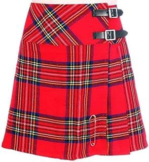 "Scottish Mini Ladies Skirt Royal Stewart Tartan/Women Mini Skirt Kilt 16"""