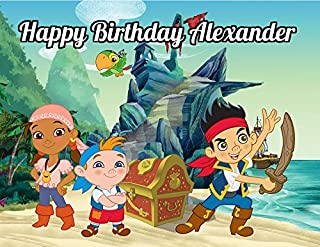 Jake and the Neverland Pirates Edible Image Photo Cake Topper Sheet Personalized Custom Customized Birthday Party - 1/4 Sheet - 78820