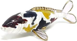 NaCraftTH Murano Glass Figurines Koi Fish Figure Japanese Carp Animal Pet Sculpture Feng Shui Home Decor Handmade Gifts