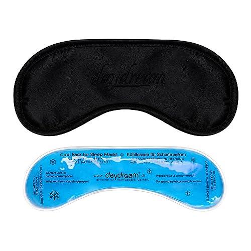daydream: Premium-Schlafmaske mit Kühlkissen (auch als Kühlmaske verwendbar), Schwarz (B-1002)