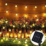 Guirnalda Luces Exterior Solar, 80 LED 10M Cadena Solar de Luces, 8 Modos Guirnaldas Luces Solar para Exterior, IP65 Impermeable Cadena de Luces, Interior, Jardines, Boda, Fiesta, Casas