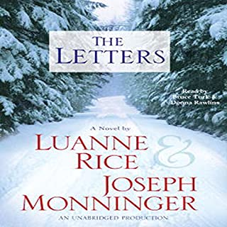 The Letters     A Novel              By:                                                                                                                                 Luanne Rice                               Narrated by:                                                                                                                                 Joseph Monninger,                                                                                        Donna Rawlins,                                                                                        Bruce Turk                      Length: 5 hrs and 14 mins     11 ratings     Overall 3.6