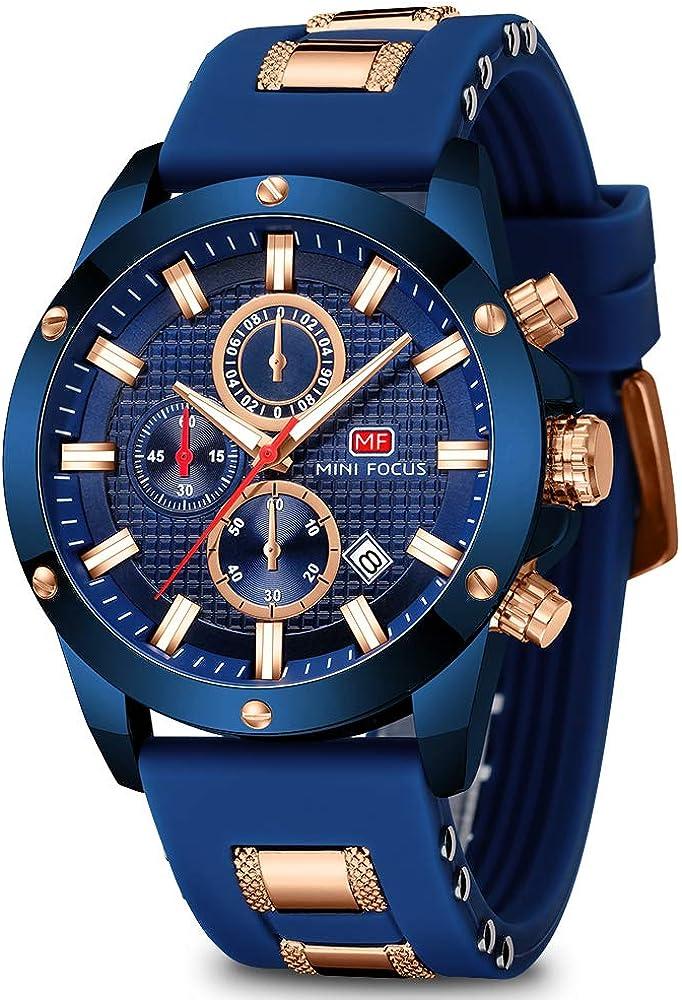 National products Men's Watch Classic Analogue Military Chronograph Luminous Quartz