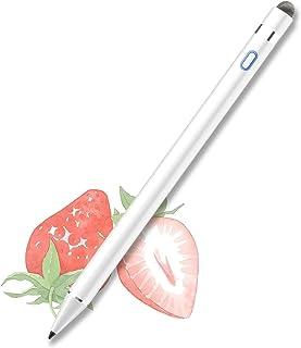 iPad タッチペン Ennotek 高感度 極細 iPad ペンシル スタイラスペン iPad対応 パームリジェクション機能 導電繊維2in1ペン先 5分自動オフ 1.0mmペン先 イラスト メモ取り ツムツム 24時間稼動 2018年以降i...