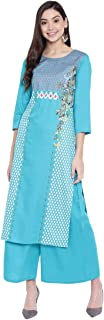 PINKY PARI SCREEN PRINTED RAYON STRAIGHT FESTIVE KURTA WITH PRINTED RAYON PALAZZO