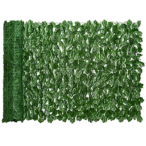 DearHouse Artificial Ivy Privacy Fence Screen, 157.5x39.3 inch Artificial Hedges...