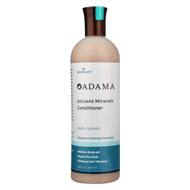 苦しみ兵士レバーZion Health, Adama, Ancient Minerals Conditioner, White Coconut, 16 fl oz (473 ml)
